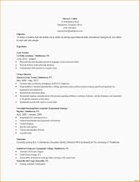 Simple Early Childhood Education Resume Samples Madiesolution Com