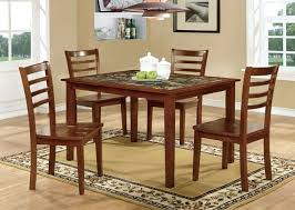 dining room table top 5 pc fordville i collection transitional style antique oak finish of dining