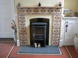 Decorative Hearth Tiles Decorative Brown Hearth Tiles In A Retro Style Fire Place and Pits 9