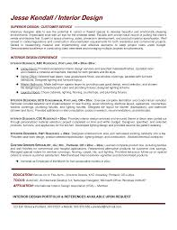 Interior Design Resume Examples Resume Templates