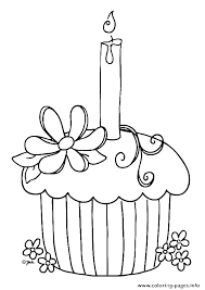 Coloring Pages Cakes Printable Birthday Cake Coloring Page Pages