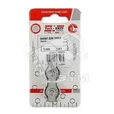 <b>Зажим</b> стальной <b>5мм Duplex</b> для <b>троса</b> (1шт) Tech-KREP купить ...