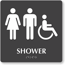 men s bathroom signs printable. Shower Tactiletouch Braille Sign With Men Women ADA S Bathroom Signs Printable L