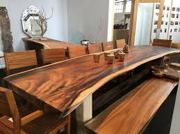 live edge free form dining table