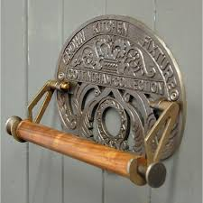 antique wall mounted kitchen roll holder