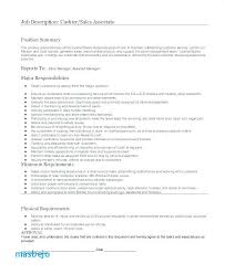 Associate Relationship Manager Sample Resume New Cashier Job Description Resume Cashier Duties Resume Job R