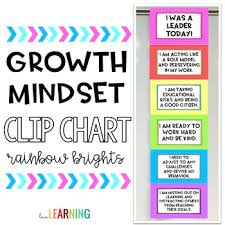 Growth Mindset Chart Growth Mindset Clip Chart Rainbow Bright Colors And Black