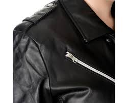 excelled women s plus size black leather belted motorcycle jacket