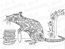 Small Picture Cracker stacker rat adult coloring page gift wall art floral