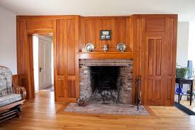 A Rumford fireplace in a circa-1850 Maine farmhouse.