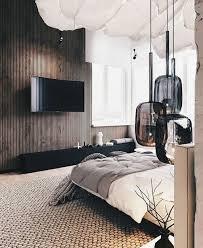 Bedroom: Cool Dark Wood Accent Walls For Pad Bedroom - Wood Accent Walls