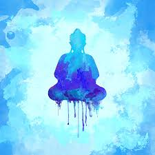 watercolor painting blue buddha watercolor painting by thubakabra