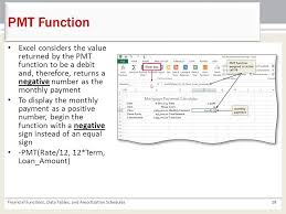 amortization function excel chapter 4 financial functions data tables and amortization
