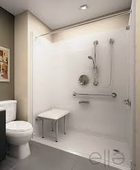 Handicapped shower stall with seat ...