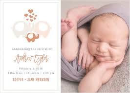 Foil Birth Announcements 40 Off Super Cute Designs Basic Invite