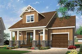 craftsman house plan front of home 032d 0808 house planore