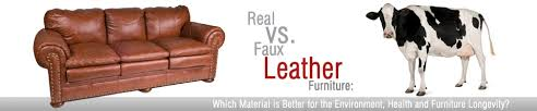 real vs faux leather sofas what s