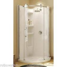 Maax Olympia WHITE Acrylic Round Corner Shower Kit 36