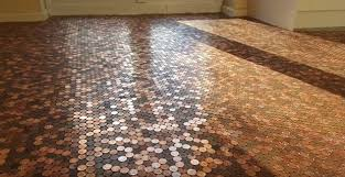 Penny kitchen floor Copper Penny Matts Penny Floor Made With 27000 1p Coins Independentie Diy Genius Uses Thousands Of Old Pennies To Make This Super Cool And