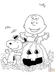Charlie Brown Halloween Coloring Page Free Printable Coloring Pages