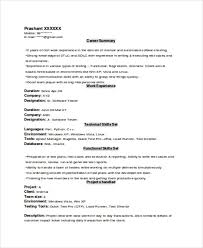 Experienced Resume Template Experienced Resume Format Template 8 Free Word  Pdf Format Printable
