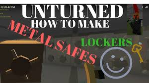 unturned how to make a metal safe/locker - YouTube
