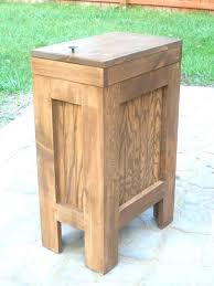 large wooden kitchen trash bins white wood bin cabinets garbage can walnut stain by t large wooden kitchen trash bins
