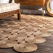 details about nuloom handmade contemporary modern geometric circles natural jute area rug
