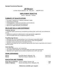 Cv For A Waitress Resumes Waitressesume Samples Examples Sample