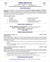 Rn Professional Resumes Sample Nursing Resume 9 Examples In Pdf