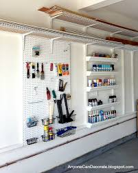 Garage storage system with pegboards