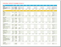 financial planner template personal budget planner template yearly