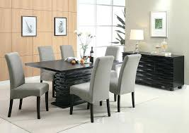 tall dining room tables black dining table w 6 grey furniture breakfast room tables and chairs