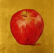 apple fruit painting. burnley-schol studios - pam paintings, don r. schol sculptures, liturgical church art consultants apple fruit painting e