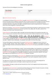 Booking Agent Contract Template Session Musician Contract Template 7
