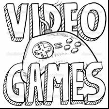Small Picture Video Games Coloring Pages Miakenasnet