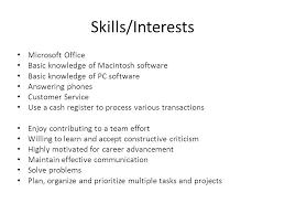 Microsoft Office Skills Resume Computer Skills On Resume Computer