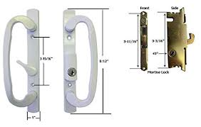 sliding gl patio door handle set with mortise lock white ke 3 15 16 holes by technologylk entry door handle lock sets amazon