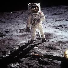 "LeMO-Objekt: Foto ""Buzz Aldrin auf dem Mond"""