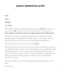 How To Write A Termination Letter To An Employee Amazing Sample Employment Contract Template