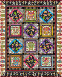 frida s garden quilt free quilt pattern by luana rubin for frida kahlo fabrics at equilter pdf
