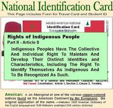 National Identification Card National Identification