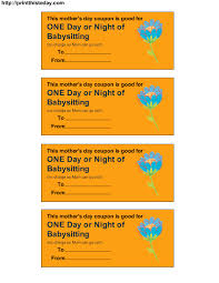 Coupon Clipart Free Printable Babysitting Vouchers Download Them Or Print