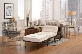 white living room furniture small. Small Spaces Living Room Apartment Design With White Fabric Ottoman Folding Bed Convertible Sofa And Black Metal Base Ideas Furniture