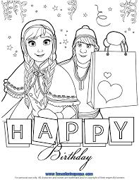 Happy Birthday Disney Coloring Pages Happy Birthday Princess Lowgif