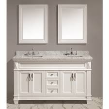 white double sink vanity set carrara marble countertop dec059c w w 01
