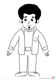 Music Man Stan From Daniel Tiger Coloring Pages Free Printable