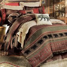 Lodge Style Bedroom Furniture Rustic Bedding Cabin Bedding Black Forest Decor