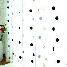 shower curtains polka dots black and white polka dot curtains shower curtain gold silver white and