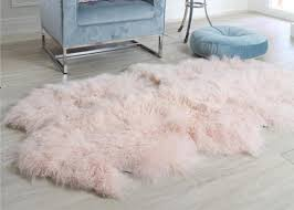pink curly hair extra large sheepskin rug comfortable anti shrink for home floor images